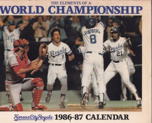 1986 Kansas City Royals calendar