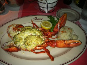 Lobster stuffed crab
